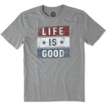 Men's life is good. Stars Stripes Short Sleeve Shirt