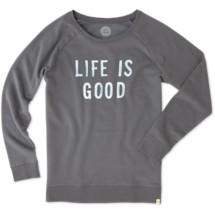 Women's life is good. Life is Good Go-To Long Sleeve Crew