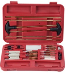 32 Piece Universal Cleaning Kit In Hard Plastic Case Red