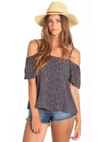 Women's Billabong Summer Nights Short Sleeve Shirt