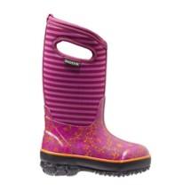 Preschool Girls Bogs Classic Flower Stripe Boots