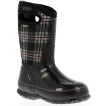 Youth Girl's Bogs Classic Winter Plaid Boots