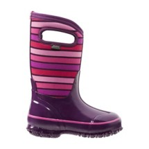 Grade School Girls Bogs Classic Stripes Boots