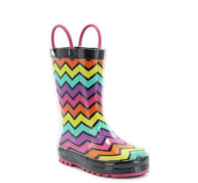 Preschool Girl's Washington Shoe Company Funny Stripes Rain Boots ...