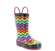 Preschool Girl's Washington Shoe Company Funny Stripes Rain Boots