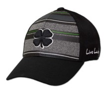 Men's Black Clover Striped Luck 1 Fitted Cap