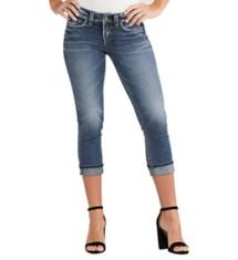 Women's Silver Jeans Suki Midrise Capri