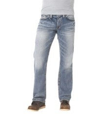 Men's Silver Jeans Zac Light Wash Relaxed Fit/Straight Leg Jean