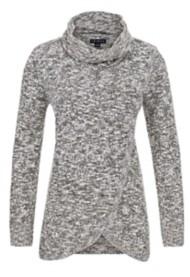 Women's Tribal Wrap Cowl Neck Sweater