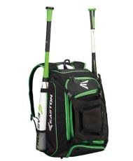 Easton Walk Off Bat Backpack- Black and Green