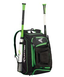 Easton Walk Off Bat Backpack- Black and Green