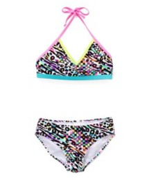 Youth Girls' St. Tropez Techno Jungle Bikini Set
