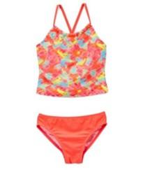 Youth Girls' St. Tropez Blurred Brights Tankini Set