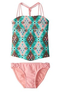 Youth Girls' Gossip Girl Aztec Harvest Tankini Set
