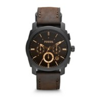 Fossil Mid-Size Chronograph Leather Watch