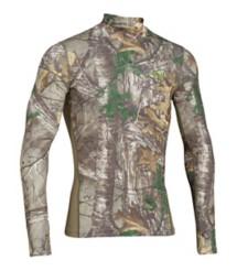 Men's Under Armour ColdGear ARMOUR Scent Control Mock Long Sleeve Shirt