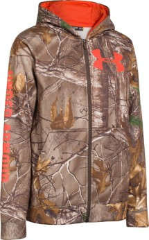 Youth Boys' Under Armour Caliber Camo Hoodie