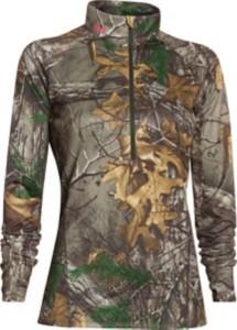 Women's Under Armour Camo 1/4 Zip Tech Long Sleeve Shirt