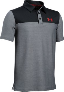 Youth Boys' Under Armour Match Play Blocked Polo