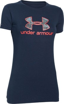 Women's Under Armour Charged Cotton Tri-Blend Camo Logo T-Shirt