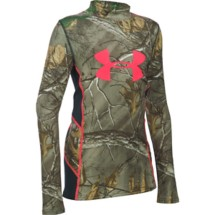 Youth Girls' Under Armour ColdGear Infrared Scent Control Tevo Long Sleeve Shirt