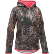Youth Girls' Under Armour Icon Camo Hoodie