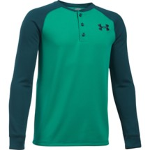 Youth Boys' Under Armour Waffle Henley Long Sleeve Shirt