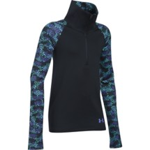 Youth Girls' Under Armour ColdGear Printed 1/2 Zip