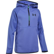 Youth Girls' Under Armour ARMOUR Fleece Printed 1/2 Zip Hoodie