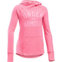 Youth Girls' Under Armour Waffle Long Sleeve Hoodie