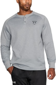 Men's Under Armour Baseball Training Henley Long Sleeve Shirt
