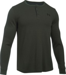 Men's Under Armour Waffle Henley Long Sleeve Shirt