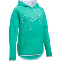 Youth Girls' Under Armour ARMOUR Fleece Jumbo Logo Hoodie