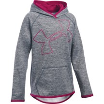 Youth Girls' Under Armour ARMOUR Fleece Novelty Jumbo Logo Hoodie