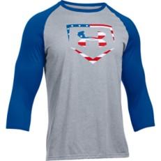 Men's Under Armour Baseball USA 3/4 Sleeve T-Shirt