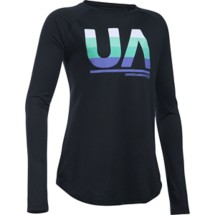 Youth Girls' Under Armour Horizontal Fade Long Sleeve Shirt