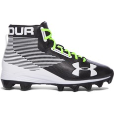 Youth Boys' Under Armour Hammer Mid Rubber Molded Jr. Football Cleats