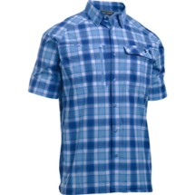 Men's Under Armour Fish Hunter Button Up Plaid Shirt