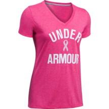 Women's Under Armour Power In Pink Wordmark Twist T-Shirt