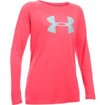 Youth Girls' Under Armour Big Logo Long Sleeve Tech Tee