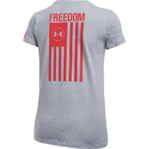 Women's Under Armour Charged Cotton Tri-Blend Freedom Flag T-Shirt