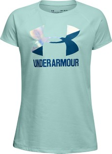 Youth Girls' Under Armour Solid Big Logo T-Shirt
