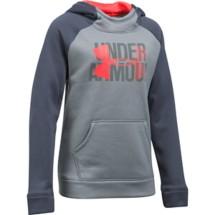 Youth Girls' Under Armour ARMOUR Fleece Big Logo Hoodie