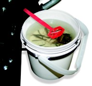 Clam Bait Well with .6 gal bucket and sled bracket