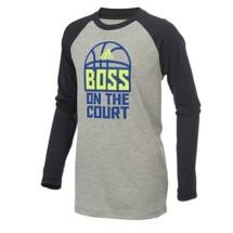 Preschool Boys' Adidas Long Sleeve Climalite Boss On The Court T-Shirt