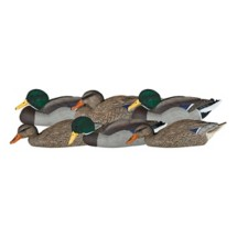 Dakota Decoy X-Treme Flocked Mallard Dabbler Decoys 6-Pack