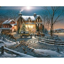 White Mountain Terry Redlin And Crown thy Good 1000 Pc Puzzle