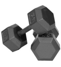USA Sports 5 Pound Hex Dumbbell