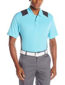 Men's PGA TOUR 2 Color Blocked  Polo