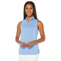 Women's PGA TOUR Performance Airflux Tonal Stripe Sleeveless Golf Polo